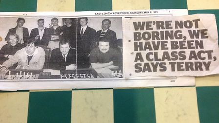 An old cutting from the Gazette's sister paper the East London Advertiser in 1991. (Picture: Mark Ri