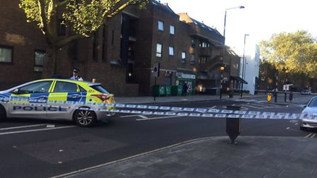 Prince of Wales Road remained cordoned off on Friday morning