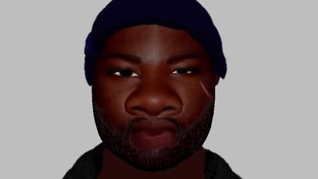 An e-fit image of the man police want to trace