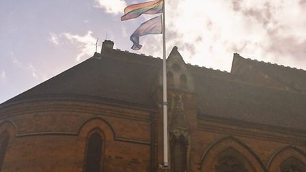 The LGBT (lesbian, gay, bisexual and transgender) and trans flags are flying once again, having been