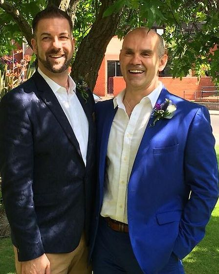 Fr Andrew Foreshew-Cain with husband Stephen