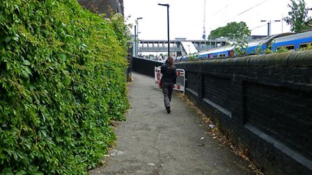 A woman was sexually attacked as she walked along the Black path on Saturday afternoon