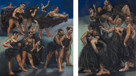 Paula Rego's Dancing Ostriches from Disney's Fantasia 1995