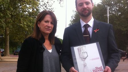 Baroness Lynne Featherstone with Jason Evans, who organised the screening of Bad Blood: A Cautionary
