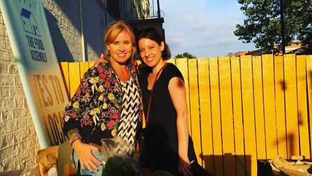 Haggerston organiser Sara Colohan (left) with her friend