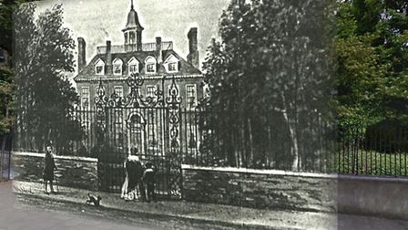 Abney House (1700-1843) was a Church Street mansion which stood where the cemetery is today. Its iro