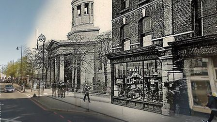 West Hackney Church, Stoke Newington Road at the juncton with Amhurst Road. It was built in 1824, bo