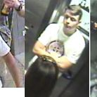 Police have released CCTV images of a man they want to question in connection with three incidents a