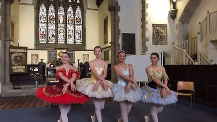Pupils of Rona Hart School of Dance performed at a ceremony to celebrate the life of Rona Hart and t