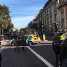 Police in Mare Street on Monday morning following reports of an explosion (Picture: Chris Paouros/Tw