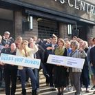 Protesters, including small business owners, at Hornsey Town Hall. Photo: David Winskill