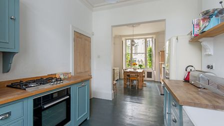 The interiors of this five-bedroom home tread a clever line between period charm and contemporary si
