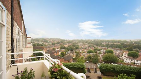 Views over London from the private balcony are a definite plus point