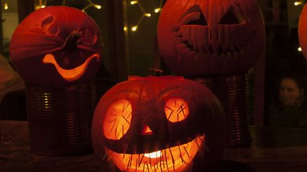 Pumpkin carving at the Dalston Eastern Curve Garden