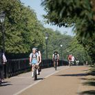 A file picture of cyclists commuting to work through Hyde Park Picture: PA images