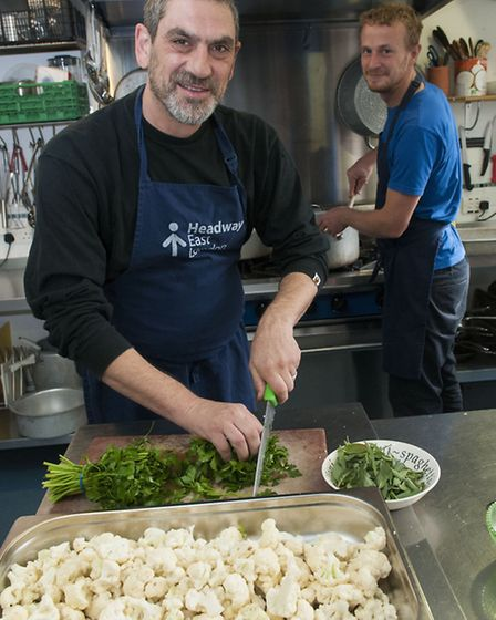 Headway East London prepare for their next supper clubvolunteer Dave Mercer pictured with Kitchen