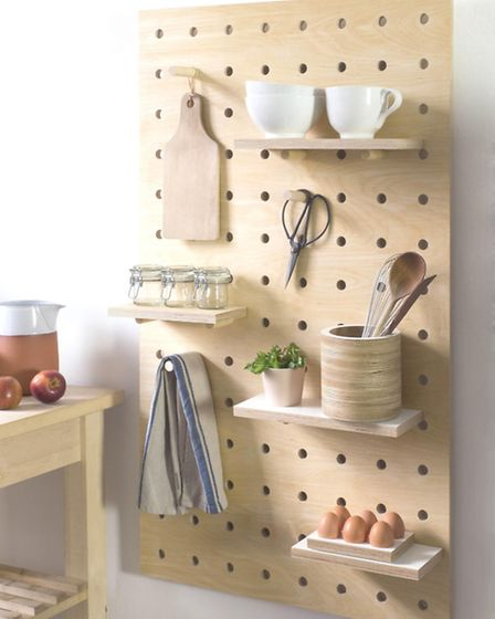 Kreisdesign Peg It All: Pegboard In Natural Birch Plywood, £175-£195, The Maker Place. PA Photo/Hand