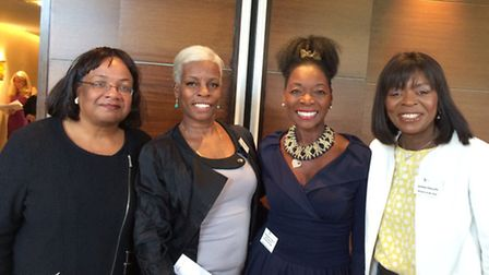 Janette Collins at the Women of the Year Lunch, with MP Diane Abbott (left), former children's TV pr