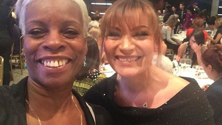 Janette Collins at the Women of the Year Lunch, with TV presenter Lorraine Kelly