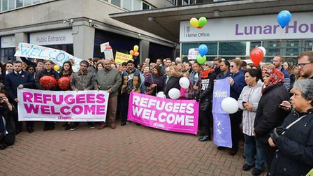 Citizens UK hold a 'refugees welcome' event , as more asylum-seekers are due to arrive from the camp