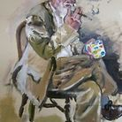 "One of the limited edition portraits of ""Rainbow"" George Weiss by Highgtate artist Beverley Isaacs"