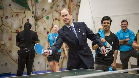 HRH The Earl of Wessex, Prince Edward, visited Forest Road Youth Hub to mark the 60th anniversary of