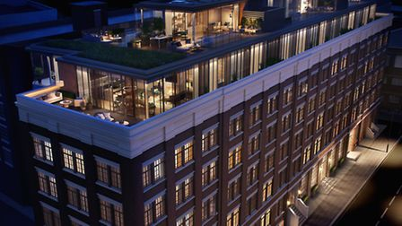 The show penthouse in the Maple Building