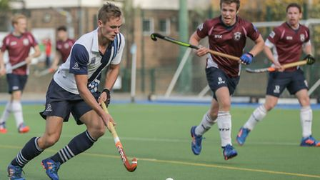 Sam French (left) was on target for Hampstead & Westminster. Pic: Mark Clews