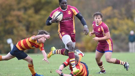 Olufemi Ajayi charges through the Stockwood Park defence. Pic: Paolo Minoli