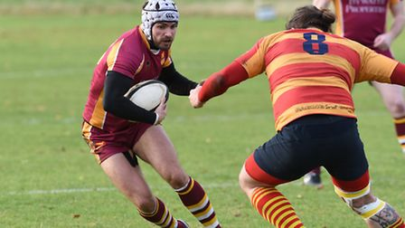 Jonty Hallett (left) returned to the side at outside centre. Pic: Paolo Minoli