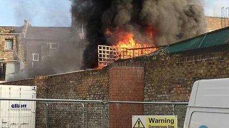 The fire in the Kentish Town sauna is now under control. Photo: inanauk