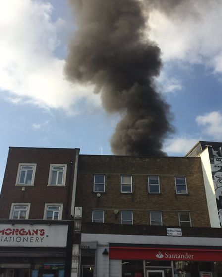 The Kentish Town fire from up above. Photo: @MrsTrellis