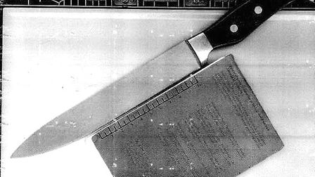 The knife seized in a school, which a 14-year-old had concealed in his bag