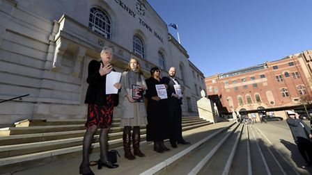 Hackney Council's campaign to End Violence against Women and Girls was launched at the Town Hall tod