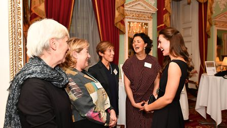 Head teacher Lesley Falconer met with Place2Be's Royal Patron HRH The Duchess of Cambridge