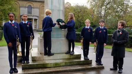 Students at The Urswick School, Paragon Road, marked Armistice Day with a special service