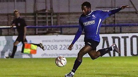 Reece Beckles-Richards (right) is in red-hot form for Wingate & Finchley. Picture: Martin Addison