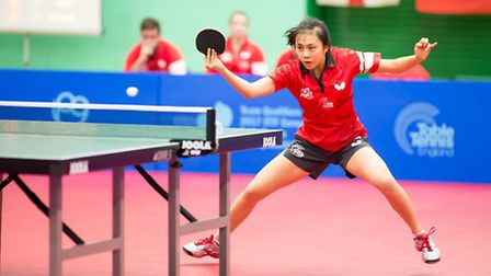 Tin-Tin Ho in action for England. Picture: Alan Man