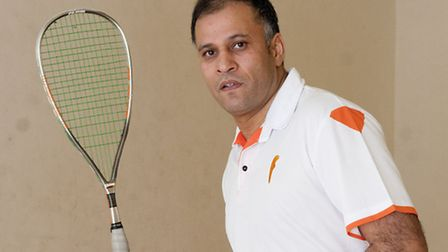 Zubair Khan, tournament director for the upcoming London Open squash tournament, which will be held