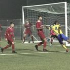 Ralston Gabriel (right) impressed for Haringey Borough and set up the winning goal at Coles Park. Pi