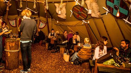 The Viking tipi at the Queen of Hoxton
