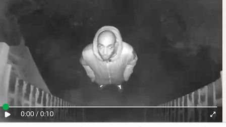 A suspect is caught on the family's CCTV after a burglary at their Crouch End home