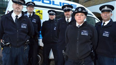 Members of the safer schools police team based at Stoke Newington Police Station. (Pictures: Polly