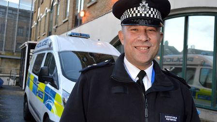 PC Paul Petersen, based at Stoke Newington Police Station (Photo: Polly Hancock)