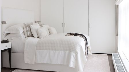 The all white bedrooms are a tranquil retreat