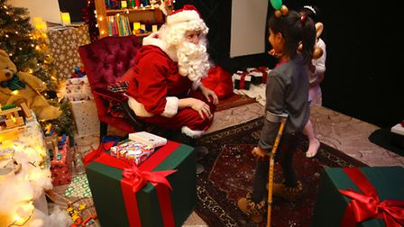 The santa suit, which was used last year to hand out gifts to the children, was also stolen Pictu