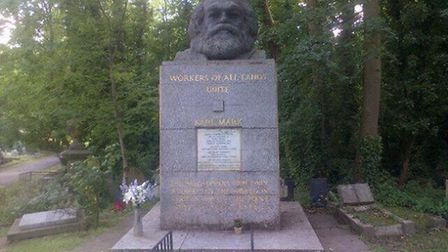 Karl Marx grave. Picture: Twitter/@KellieFem