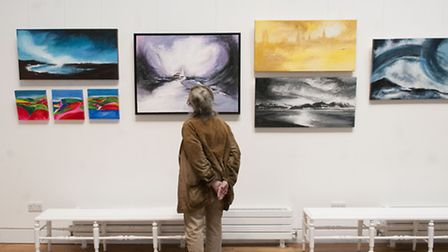 Art Exhibition at Highgate Literary and Scientific Institution with paintings by John Rosser, Emma M