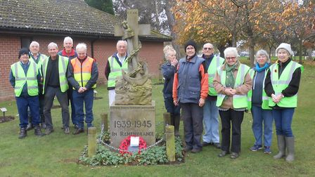 The FONEP Volunteers at the Memorial. Picture: Courtesy of FONEP