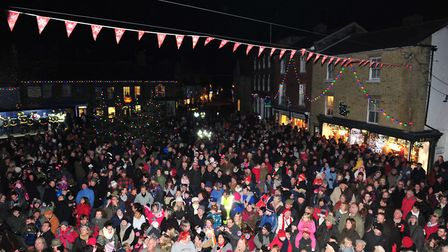 Father Christmas himself will be the man to illuminate the town centre. Picture: Nick Butcher